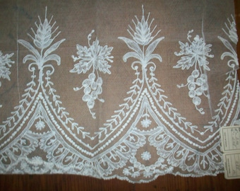 Ecclesiastical lace salesman's sample christening dress inset