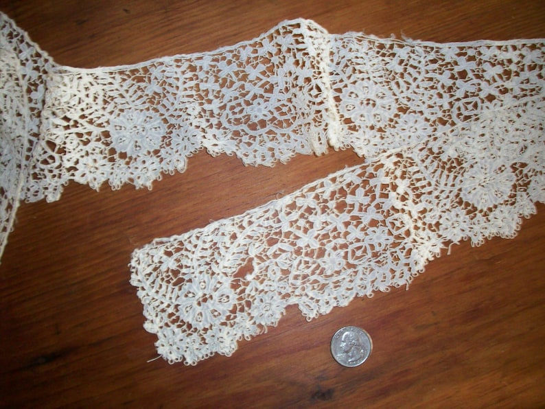 Antique hand done Carrickmacross lace