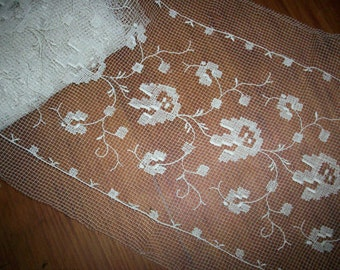 filet Antique lace very soft and fine yardage