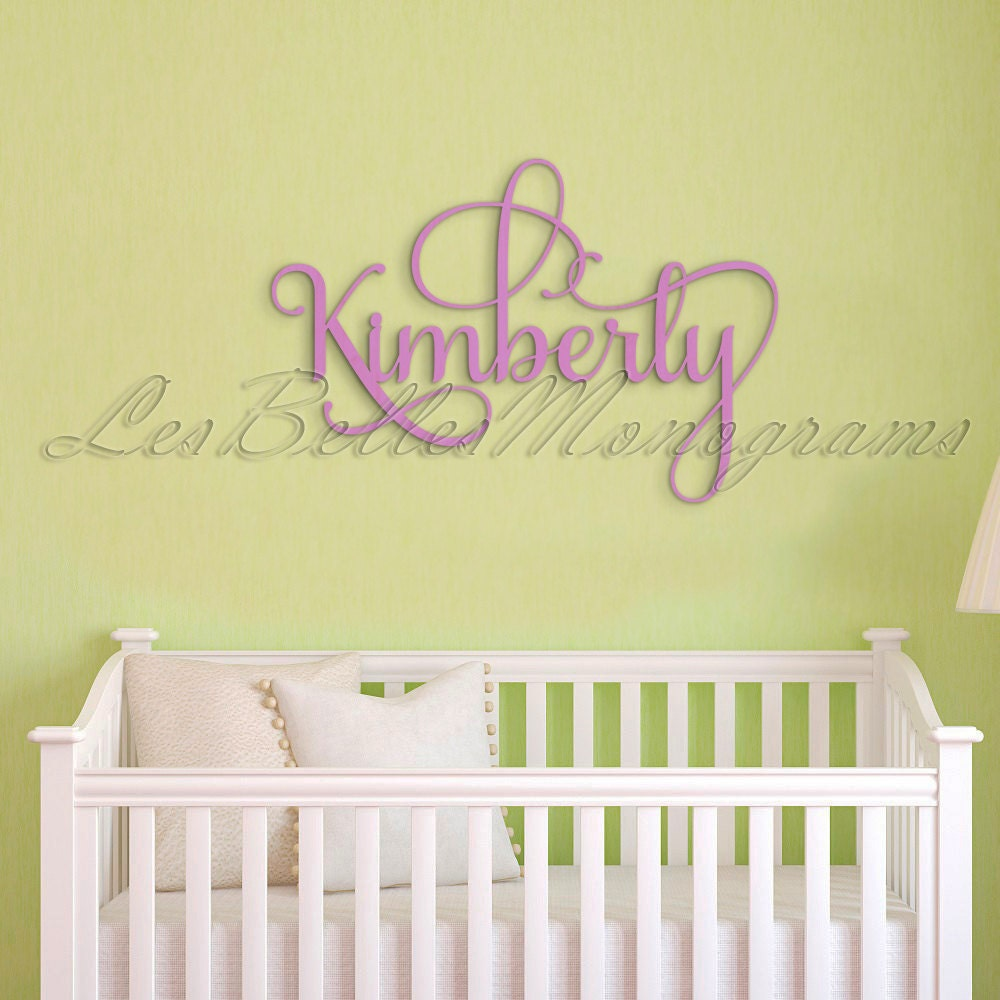 Fancy Flourish Painted Wooden Letters Custom Wooden Name   Etsy
