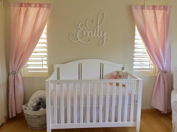 Jumeaux chambre de bébé - chambre à coucher signe - signe de chambre  partagée frères et soeurs - noms personnalisés - Script mural décoratif  élégant ...