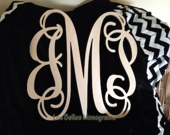 8 INCH Wood Monogram Letter - Great for Wedding, Door and Wall Decor - Unpainted