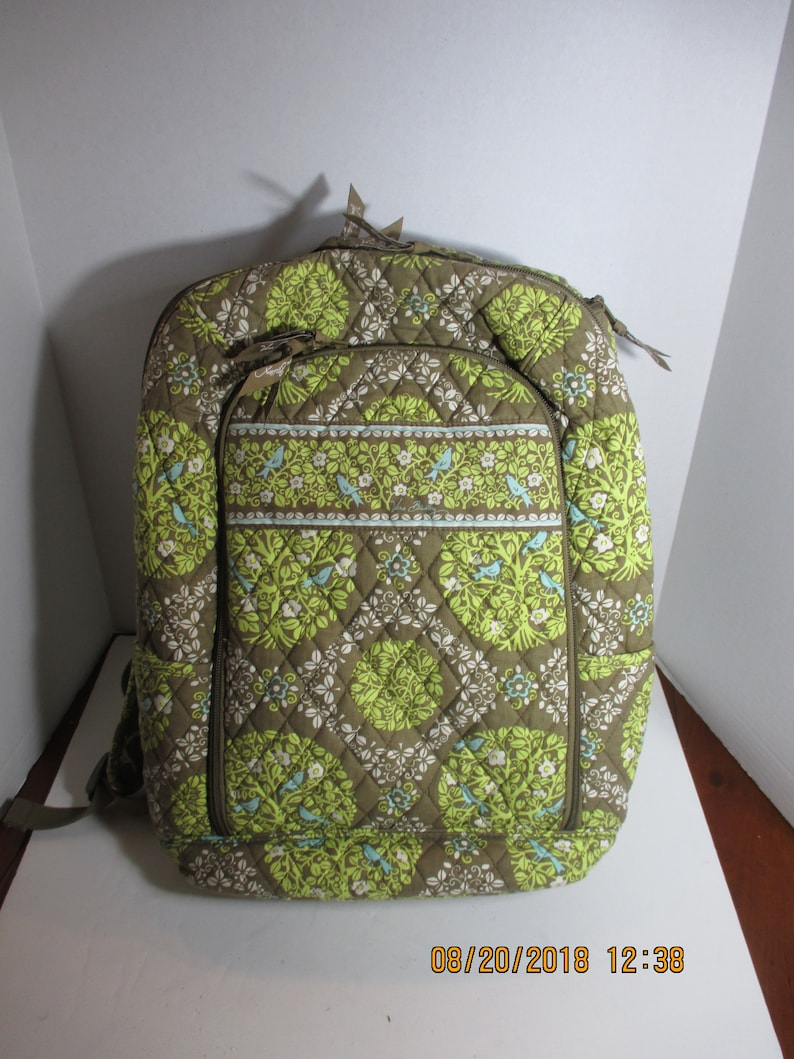 b6d2d50b26 Vera Bradley Campus Backpack Laptop Book Bag Sittin In A