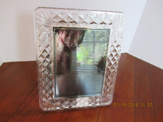 Waterford Crystal Portrait 5x7 Frame Westover Diamond Design Etsy