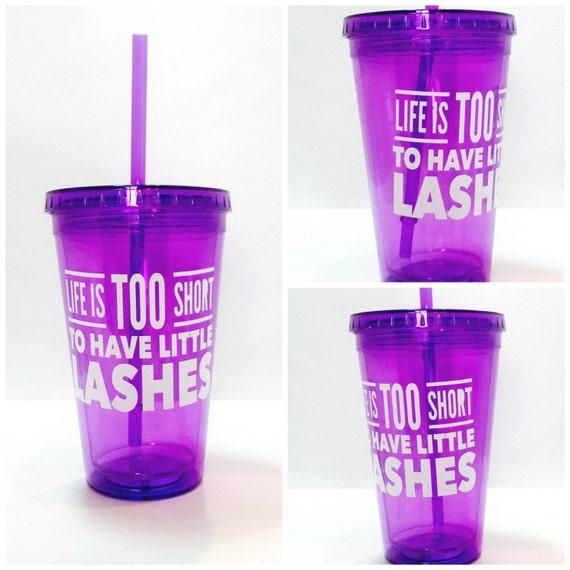 Little Lashes Purple Tumbler - 16 oz