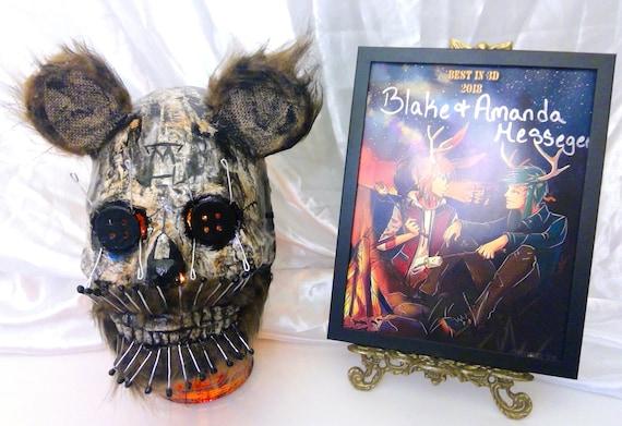 Scary Animal Halloween Masks.Scary Pin Bear Wearable Halloween Mask Paper Mache Animal Mask Etsy
