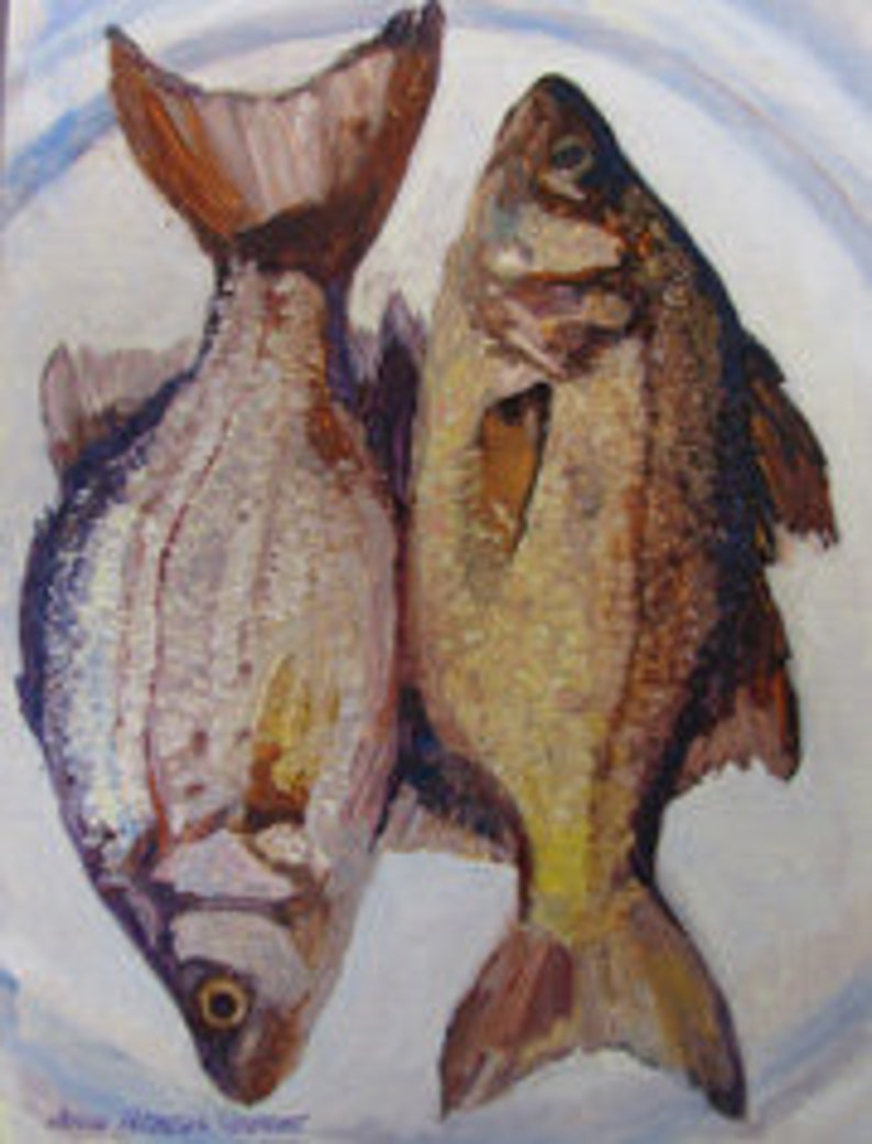Two Bass on a Plate image 0