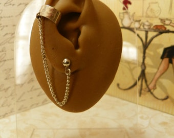 Hammered ear cuff for single pierceing