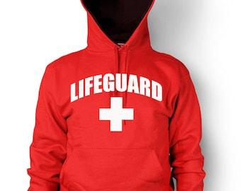 d3b875cbfe4 Lifeguard Hoodie Beach Patrol Pool Safety Guard Rescue Team Men s Hooded  Sweatshirt