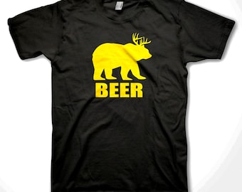 c4045a2692744 Drunk Bear Beer T-shirt Funny Drink Beer Deer Bear party shirts