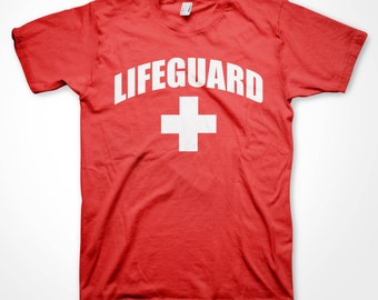123c8a5521e Lifeguard T-shirt Beach Patrol Pool Safety Guard Rescue Team Staff Shirts  Youth Adult Toddler Baby sizes