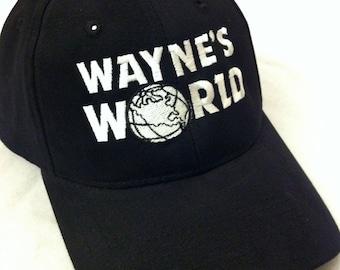 2e40df44 Wayne's World Hat Wayne Campbell Halloween Costume Waynes World embroidered  adjustable cap