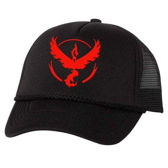 Pokemon Go Team Valor Black Mesh Hat game fun Cap cosplay  fc9e19a8989f