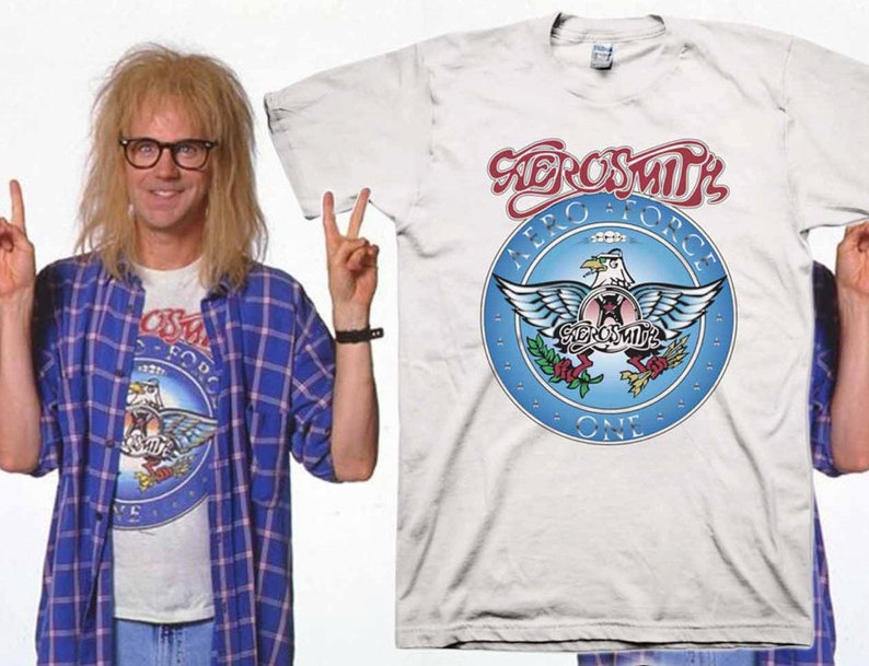 69c81207f Wayne's World Garth Aerosmith T-shirt Halloween Costume | Etsy