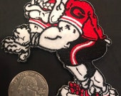 UGA Georgia bulldogs Vintage Embroidered Iron On Patch 3.5 quot x 3 quot