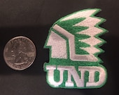 Und University of North Dakota Fighting Sioux embroidered iron on patch 2.25 quot x 1.5 quot