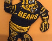 California CAL Golden Bears Vintage Embroidered Iron On Patch 3 quot x 2.5 quot