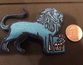 Columbia University Lions Vintage Embroidered Iron On Patch RARE 3.5 quot x 2.5 quot
