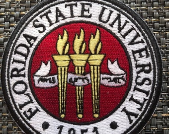 4832f28ffcceb FSU Florida state university Vintage Embroidered Iron On Patch 3