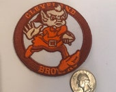 CLEVELAND BROWNS Vintage embroidered Iron On Patch 3 quot x 3 quot