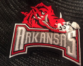 8749e950 Arkansas Razorbacks HOGS RARE Iron-On Patch 3
