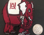 Alabama Crimson Tide Vintage Embroidered Iron On Patch 3.5 quot x 3 quot
