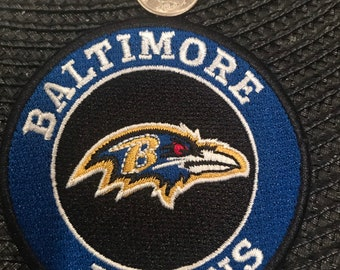 """53645e63f9e55d Baltimore Ravens Vintage Embroidered Iron On Patch 3"""" X 3"""""""