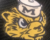 University of Michigan wolverines Embroidered Iron On Patch 3 quot x 3 quot
