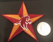 Southwest TEXAS state BOBCATS vintage iron on PATCH 3.25 X 3.25 quot