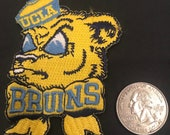 UCLA BRUINS Vintage Embroidered Iron On Patch (NOS) 2.5 quot x 2 quot