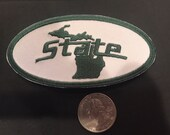 MSU Michigan State Spartans embroidered iron on patch vintage 4 quot x 2 quot
