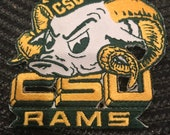 CSU Colorado State Rams Vintage Embroidered Iron on Patch (NOS) 3 quot x 3 quot