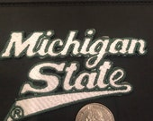 MSU Michigan State Spartans embroidered iron on patch vintage 4 quot x 2.25 quot