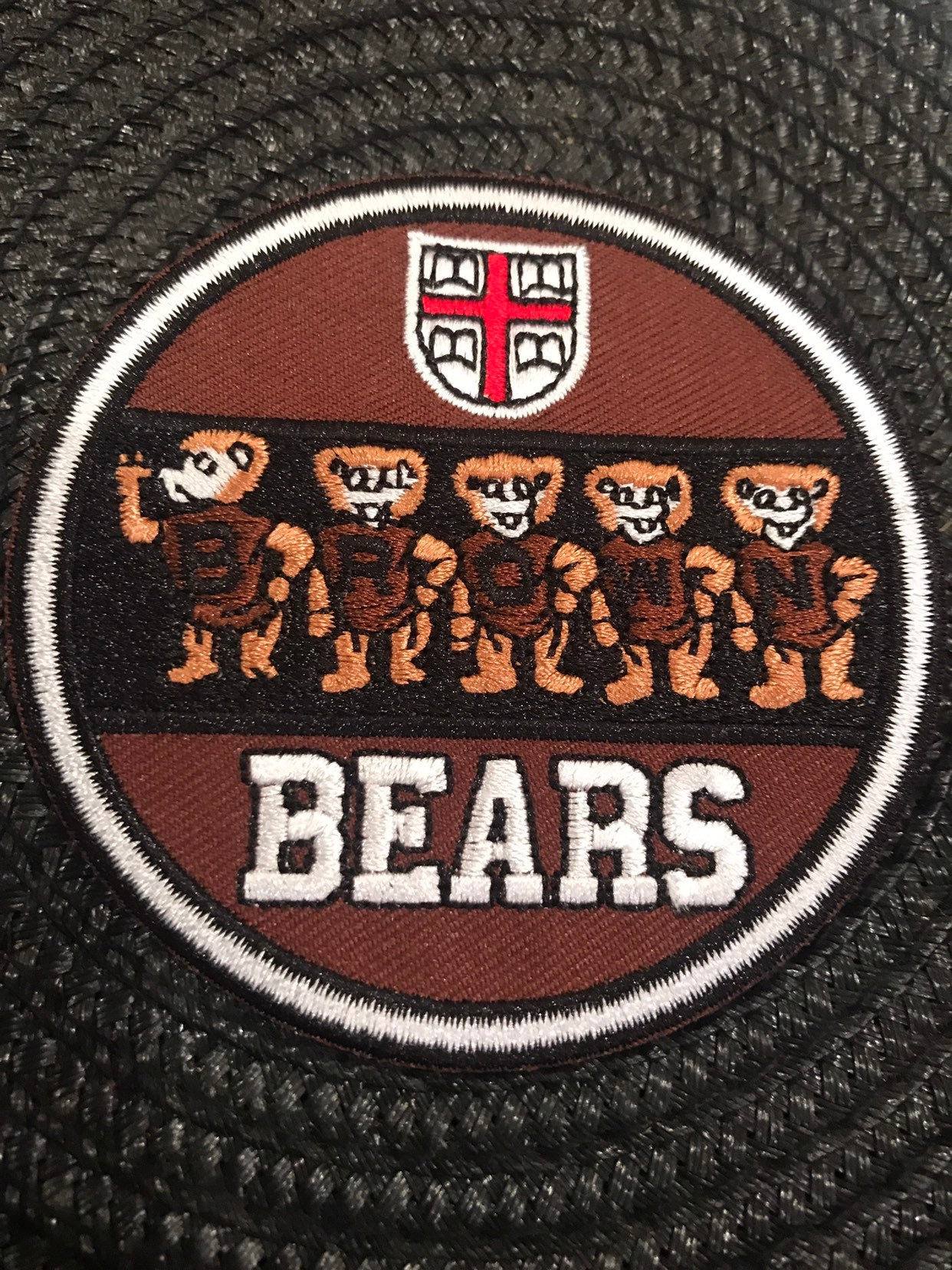 """Cornell University Big Red  VINTAGE EMBROIDERED IRON ON PATCH 3/"""" x 2.25/"""""""