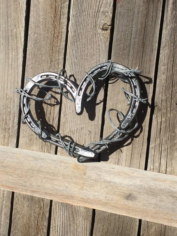 Hufeisen Sie Herz Hufeisen-Herz mit Stacheldraht Hufeisen   Etsy