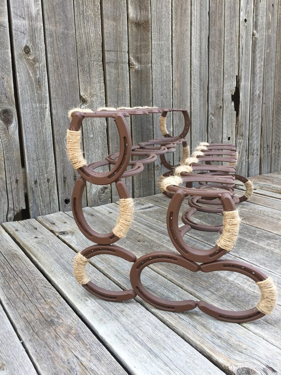 Horseshoe Boot Rack Boot Rack Southern Decor Horseshoe Art Etsy