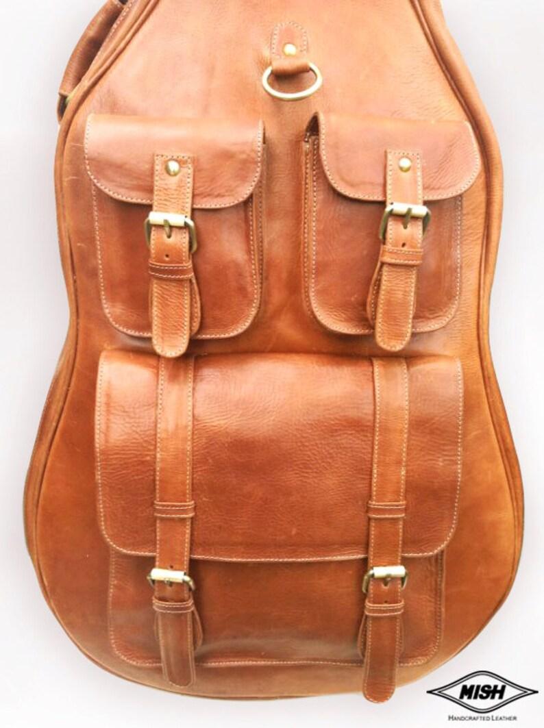 leather guitar case soft case guitar bag leather case etsy. Black Bedroom Furniture Sets. Home Design Ideas