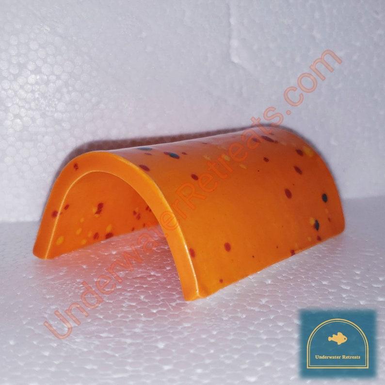 Orange Glazed clay cave  Open rear awning shelter  Snake image 0
