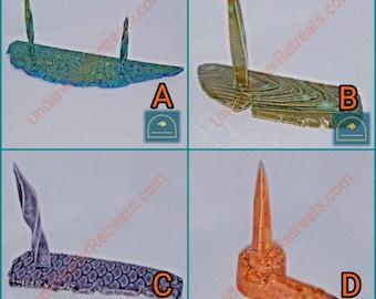 Clay fish food weight • Various ceramic skewer spikes • Pleco loach crayfish snail otocinclus algae eater • Betta tank decor fairy garden
