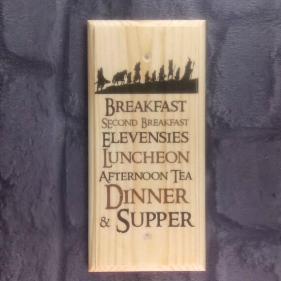 Der Hobbit Diat Plakette Zeichen Geschenk Herr Der Ringe Etsy
