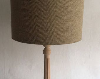 Lampshade Country Green Tweed