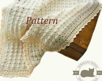 Crochet Baby Blanket Pattern, Crochet Stroller Pattern, Crochet Baby Afghan, Baby Pattern, Travel Newborn Blanket, Instant Download /4015/