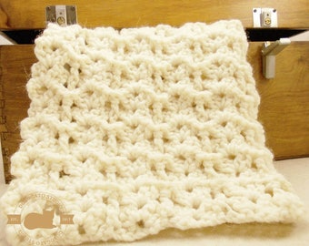 Tutorial Crochet Blanket Pattern, Easy Crochet Baby Blanket Pattern, Newborn Blanket, Beginner Pattern, Instant Download /4001/