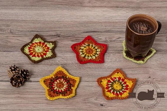 Easy Crochet Star Pattern Tutorial Christmas Stars Pattern Etsy