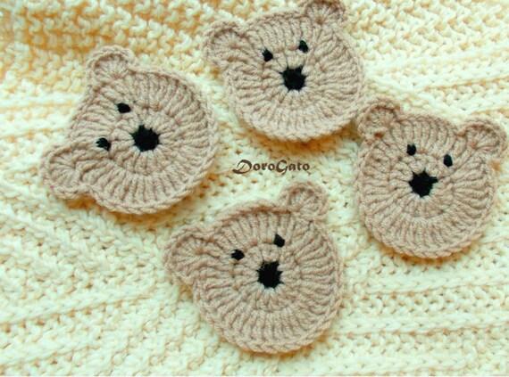 Easy crochet pattern teddy bear pattern applique bears etsy