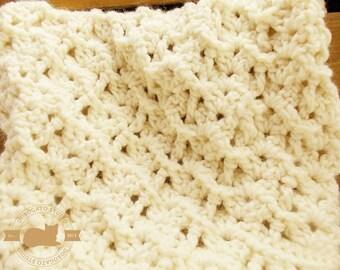 Tutorial Crochet Blanket Pattern, Easy Crochet Baby Blanket Pattern, Newborn Blanket Pattern, Beginner Pattern, Instant Download /4001/