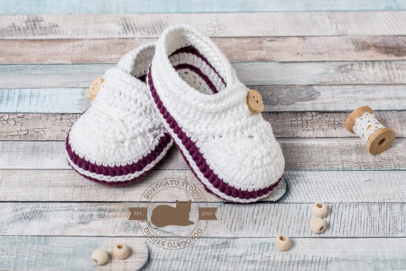 Crochet Baby Shoes Pattern Step By Step Crochet Baby Pattern | Etsy