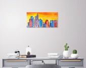 Philadelphia Skyline Painting