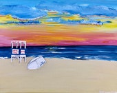 Ocean City, NJ Lifeguard Stand Sunrise Painting