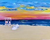 Ocean City, NJ Lifeguard Stand Sunrise Painting